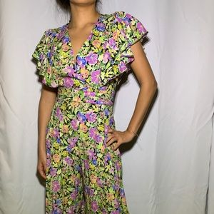 Zara Floral Jumpsuit NWT XS extra small